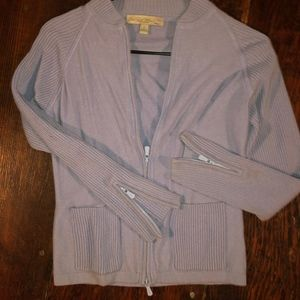 One girl Who Pure Cashmere Zip up Sweater S